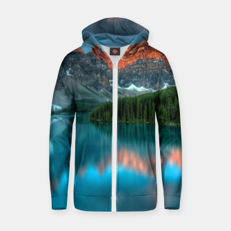 Thumbnail image of Alberta Canada Lake Louise Summer Adventure Cotton zip up hoodie, Live Heroes