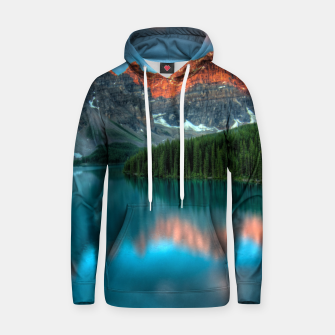 Thumbnail image of Alberta Canada Lake Louise Summer Adventure Cotton hoodie, Live Heroes