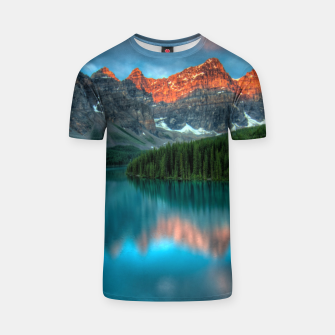 Thumbnail image of Alberta Canada Lake Louise Summer Adventure T-shirt, Live Heroes