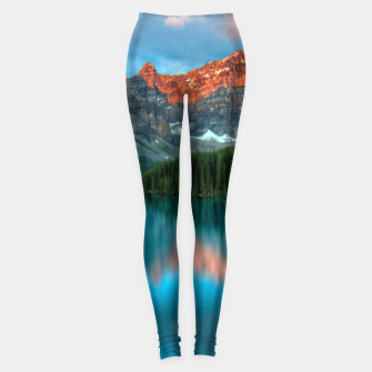 Thumbnail image of Alberta Canada Lake Louise Summer Adventure Leggings, Live Heroes