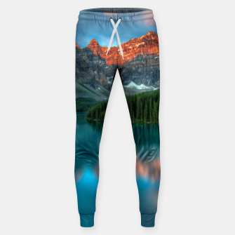 Thumbnail image of Alberta Canada Lake Louise Summer Adventure Cotton sweatpants, Live Heroes