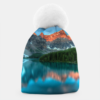 Thumbnail image of Alberta Canada Lake Louise Summer Adventure Beanie, Live Heroes