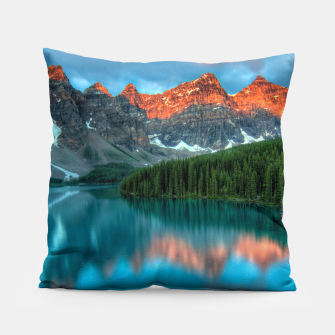 Thumbnail image of Alberta Canada Lake Louise Summer Adventure Pillow, Live Heroes