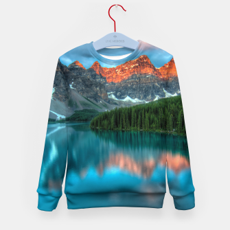 Thumbnail image of Alberta Canada Lake Louise Summer Adventure Kid's sweater, Live Heroes