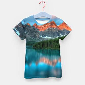 Thumbnail image of Alberta Canada Lake Louise Summer Adventure Kid's t-shirt, Live Heroes