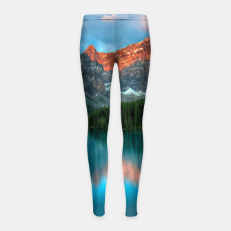 Thumbnail image of Alberta Canada Lake Louise Summer Adventure Girl's leggings, Live Heroes