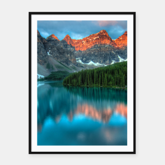 Thumbnail image of Alberta Canada Lake Louise Summer Adventure Framed poster, Live Heroes