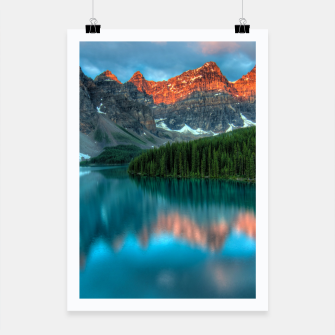 Thumbnail image of Alberta Canada Lake Louise Summer Adventure Poster, Live Heroes