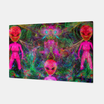 Thumbnail image of Kneel Before The Bubblegum Alien King (psychedelic) Canvas, Live Heroes