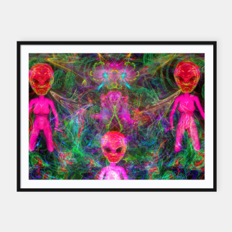 Thumbnail image of Kneel Before The Bubblegum Alien King (psychedelic) Framed poster, Live Heroes