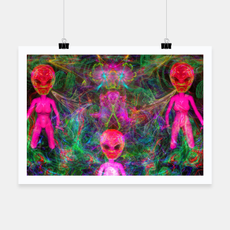 Thumbnail image of Kneel Before The Bubblegum Alien King (psychedelic) Poster, Live Heroes
