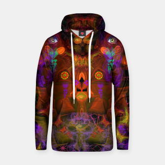 Thumbnail image of Lucid Visions of Homo Erectus (visionary, psychedelic) Cotton hoodie, Live Heroes