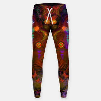 Thumbnail image of Lucid Visions of Homo Erectus (visionary, psychedelic) Cotton sweatpants, Live Heroes