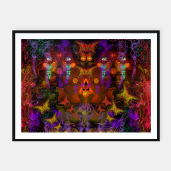 Thumbnail image of Lucid Visions of Homo Erectus (visionary, psychedelic) Framed poster, Live Heroes