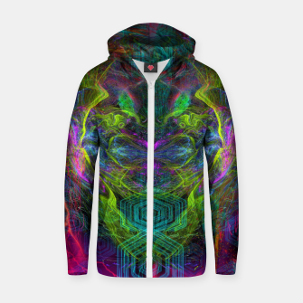 Thumbnail image of Rocket Man (abstract, psychedelic) Cotton zip up hoodie, Live Heroes