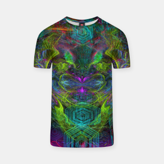 Thumbnail image of Rocket Man (abstract, psychedelic) T-shirt, Live Heroes