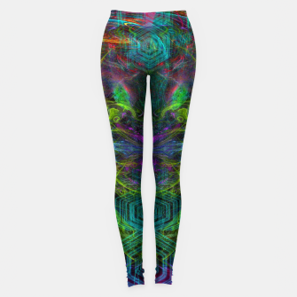 Thumbnail image of Rocket Man (abstract, psychedelic) Leggings, Live Heroes