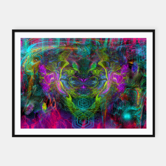 Thumbnail image of Rocket Man (abstract, psychedelic) Framed poster, Live Heroes