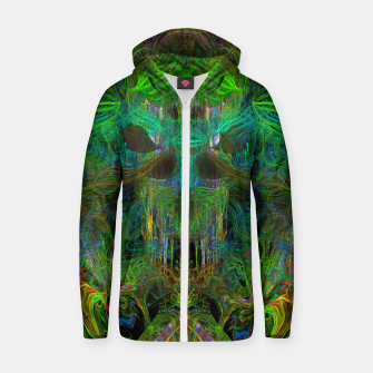 Thumbnail image of Seaweed Ghost Breath (dark, scary, abstract, psychedelic) Cotton zip up hoodie, Live Heroes