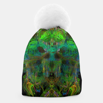 Thumbnail image of Seaweed Ghost Breath (dark, scary, abstract, psychedelic) Beanie, Live Heroes