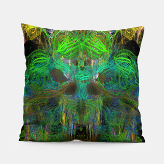Thumbnail image of Seaweed Ghost Breath (dark, scary, abstract, psychedelic) Pillow, Live Heroes