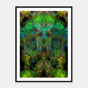 Thumbnail image of Seaweed Ghost Breath (dark, scary, abstract, psychedelic) Framed poster, Live Heroes