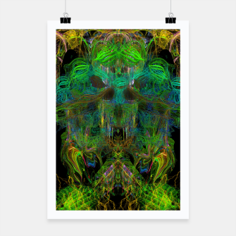 Thumbnail image of Seaweed Ghost Breath (dark, scary, abstract, psychedelic) Poster, Live Heroes