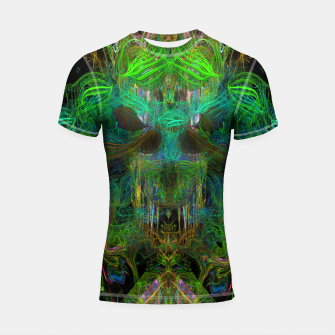Thumbnail image of Seaweed Ghost Breath (dark, scary, abstract, psychedelic) Shortsleeve rashguard, Live Heroes