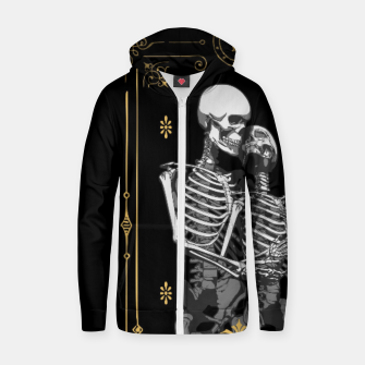 Thumbnail image of The Lovers VI Tarot Card Cotton zip up hoodie, Live Heroes