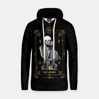 Thumbnail image of The Lovers VI Tarot Card Cotton hoodie, Live Heroes