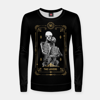 Thumbnail image of The Lovers VI Tarot Card Woman cotton sweater, Live Heroes