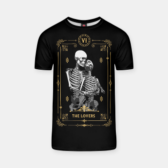 Thumbnail image of The Lovers VI Tarot Card T-shirt, Live Heroes