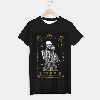Thumbnail image of The Lovers VI Tarot Card T-shirt regular, Live Heroes