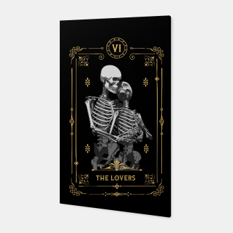 Thumbnail image of The Lovers VI Tarot Card Canvas, Live Heroes