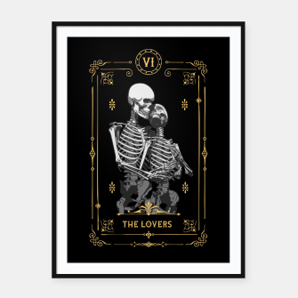 Thumbnail image of The Lovers VI Tarot Card Framed poster, Live Heroes