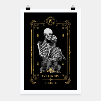 Thumbnail image of The Lovers VI Tarot Card Poster, Live Heroes