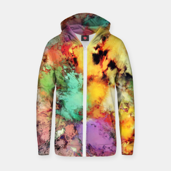 Thumbnail image of Shape shifting Cotton zip up hoodie, Live Heroes