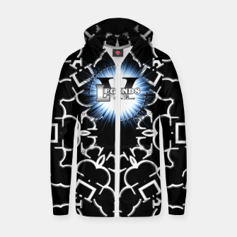 Thumbnail image of Legends Are Born Arc Flare Cotton zip up hoodie, Live Heroes