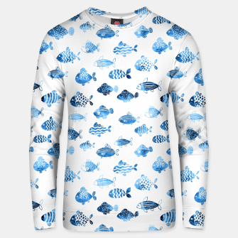 Thumbnail image of watercolor fishes Cotton sweater, Live Heroes