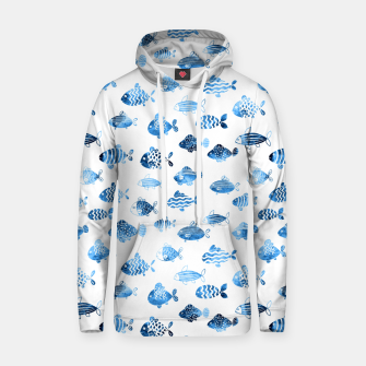 Thumbnail image of watercolor fishes Cotton hoodie, Live Heroes