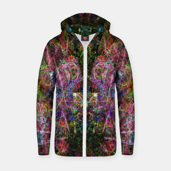 Thumbnail image of Third Mind Wiring (abstract, psychedelic) Cotton zip up hoodie, Live Heroes