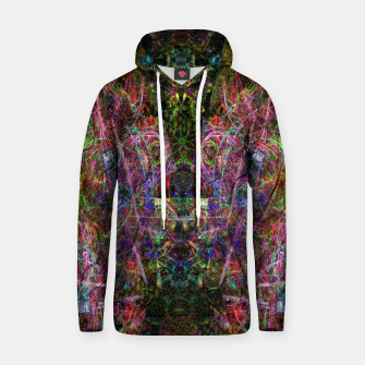 Thumbnail image of Third Mind Wiring (abstract, psychedelic) Cotton hoodie, Live Heroes