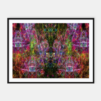 Thumbnail image of Third Mind Wiring (abstract, psychedelic) Framed poster, Live Heroes
