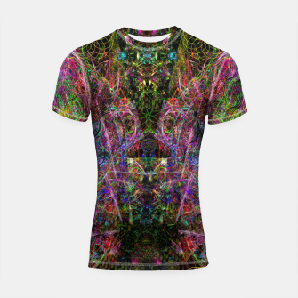 Thumbnail image of Third Mind Wiring (abstract, psychedelic) Shortsleeve rashguard, Live Heroes