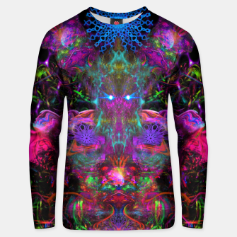 Thumbnail image of 7 Temporal Spirits (psychedelic, totem, psytrance, trippy, fluorescent) Cotton sweater, Live Heroes