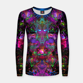 Thumbnail image of 7 Temporal Spirits (psychedelic, totem, psytrance, trippy, fluorescent) Woman cotton sweater, Live Heroes