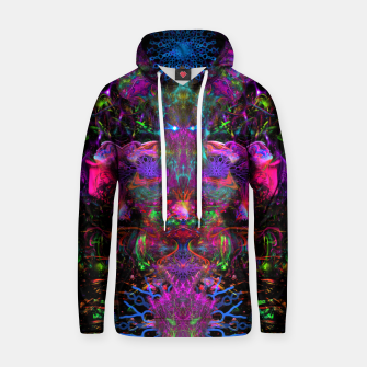 Thumbnail image of 7 Temporal Spirits (psychedelic, totem, psytrance, trippy, fluorescent) Cotton hoodie, Live Heroes