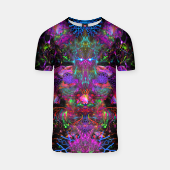 Thumbnail image of 7 Temporal Spirits (psychedelic, totem, psytrance, trippy, fluorescent) T-shirt, Live Heroes