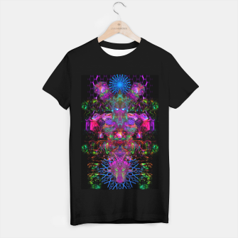 Thumbnail image of 7 Temporal Spirits (psychedelic, totem, psytrance, trippy, fluorescent) T-shirt regular, Live Heroes