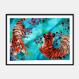 Thumbnail image of Tigers Framed poster, Live Heroes